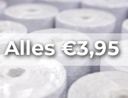 Alles €3,95 en goedkoper!