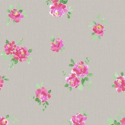 Graham & Brown Vliesbehang 32-602 Romantische Bloemen Taupe