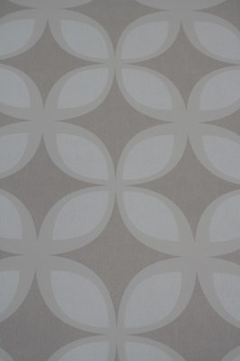 Vlies behang 765-03 Freestyle retro look  taupe /zand tinten iets lichter dan op foto