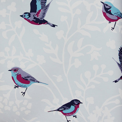 vintage chic vlies behang vogeltjes 7237-3