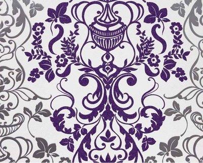 Marburg Alice Whow! 51829 Barok behang zilver wit paars behang