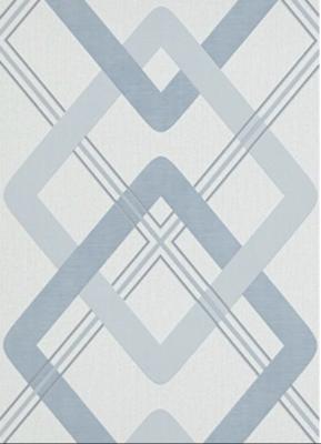 6956-08 novamur licht blauw grafisch patroon op vlies