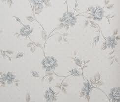 Dutch Scarlet 80803 beige taupe  met blauwe bloemen