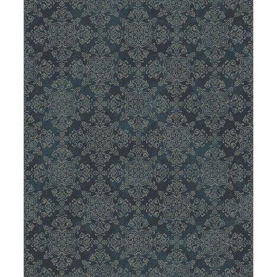 etten mercury traditional damask zilver/off white damask op vlies 2e foto voorbeeld patroon