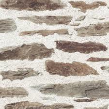 brick wall bruin papier behang