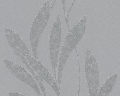 30236-6 grijs bladeren trendy vlies