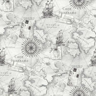 BEHANG 622004 Navigator columbus ocean chart