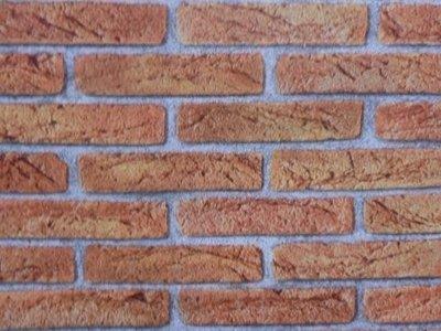 steen behang rood/bruin 276811