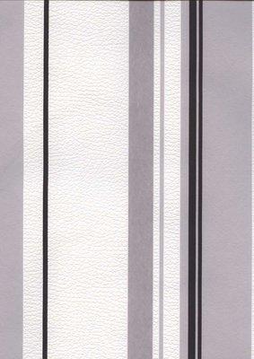 1255-52 zwart wit grijs strepen vlies