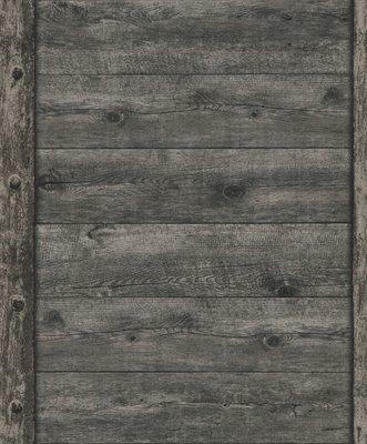 861426 zwart/donker grijs hout vlies