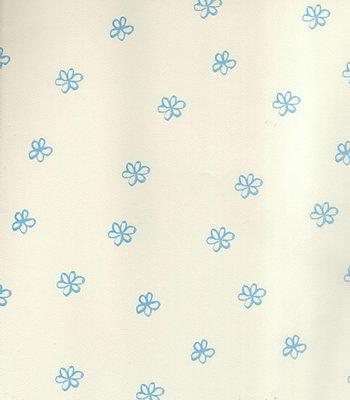 5673-05 blauw bloemen behang