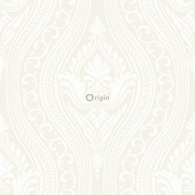 Origin Grandeur behang 346601 gebroken wit/creme velours