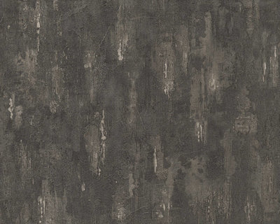 AS Creation Around the World behang 30694-7 betonlook antraciet/taupe