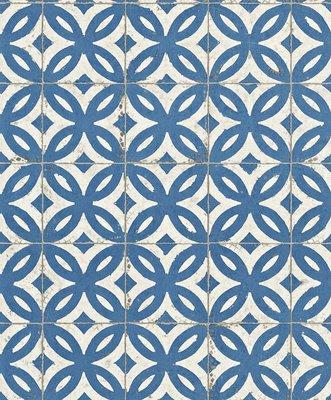 RASCH Crispy Paper landelijk tegel motief /scandinavian tile