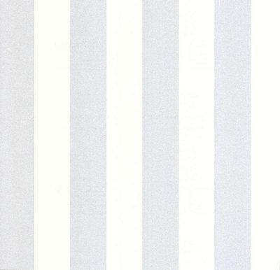 13700-30 vinyl op vlies wit met zilver glitter streep