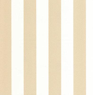 13700-60 vinyl op vlies wit met goud glitter streep