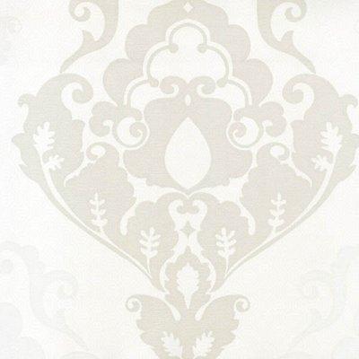 542-1 obsession  wit  zacht taupe zijdedruk vlies