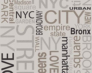 new york city landmarks papier behangtaupe grijs zwart zilver