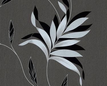 AS Creation Kingston behang 32522-3 vinyl met zilver glitterin blad