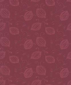 175-03 terra rood natuurlijk bloem patroon vinyl op vlies