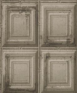 932607 verweerde houten panelen  op vlies